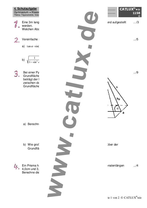 Groß Mathematik Trigonometrie Probleme Fotos - Mathematik ...