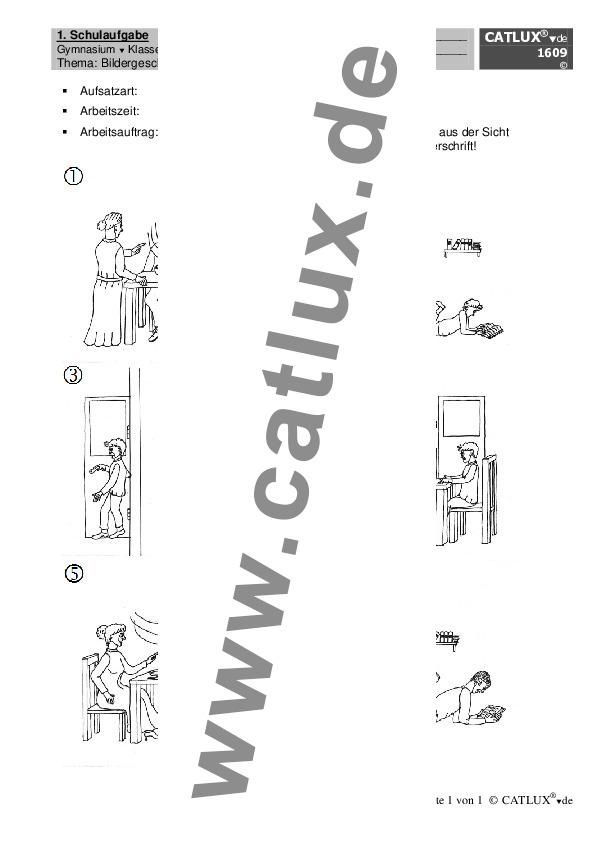 Aufsatz Deutsch Klasse 6 Gymnasium Bildergeschichte : Catlux