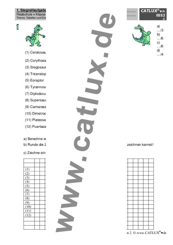 extemporalen stegreifaufgaben realschule klasse 5 mathematik catlux. Black Bedroom Furniture Sets. Home Design Ideas