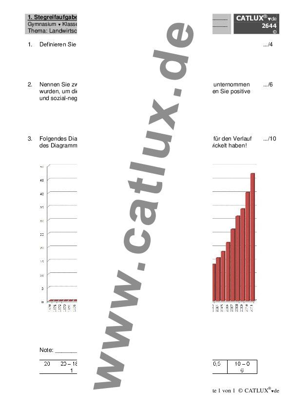 ▷ Schulaufgaben Erdkunde / Geographie Klasse 10 Gymnasium | Catlux