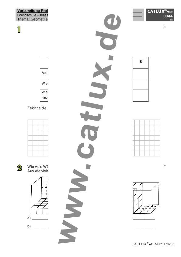 übungen Mathematik Zusammenfassung Aller Geometrieaufgaben Teil 1
