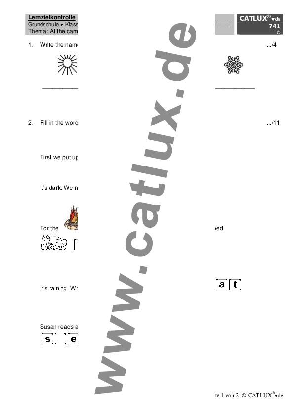 ▷ Proben Englisch Klasse 4 Grundschule | Catlux