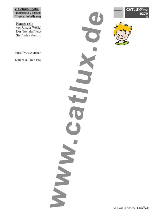 Schulaufgaben Deutsch Klasse 7 Realschule Catlux
