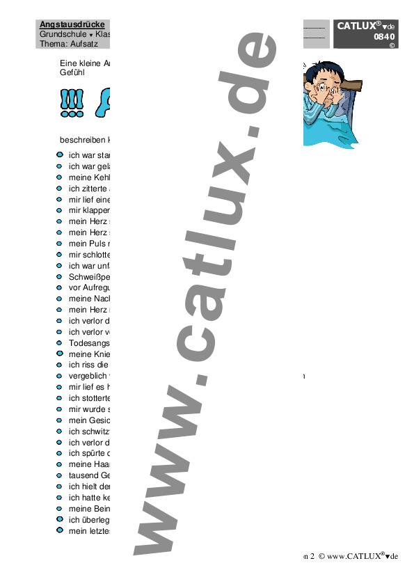 Aufsatz Deutsch Klasse 3 Grundschule : Catlux