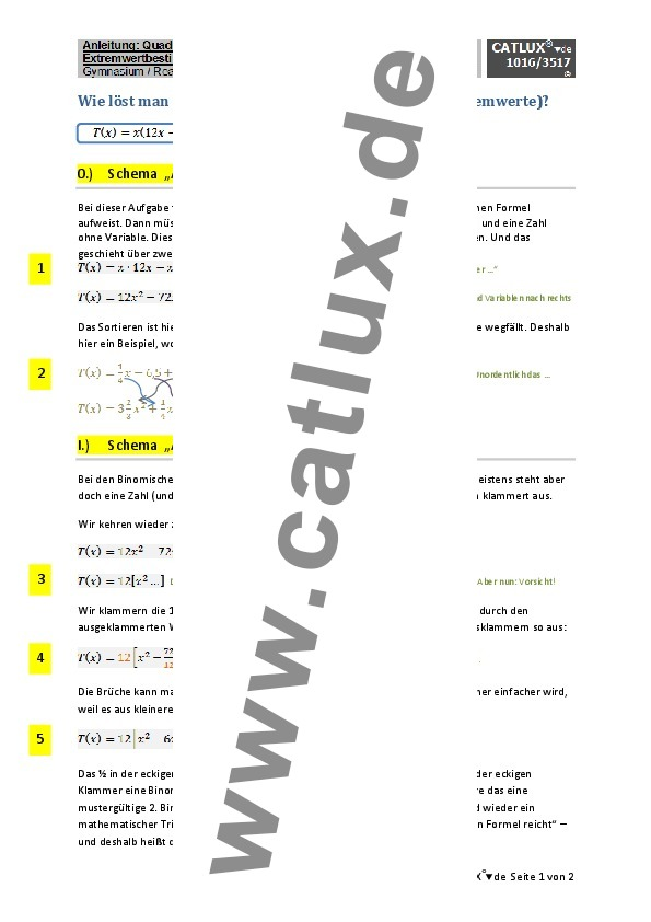 schulaufgaben mathematik klasse 7 gymnasium catlux. Black Bedroom Furniture Sets. Home Design Ideas