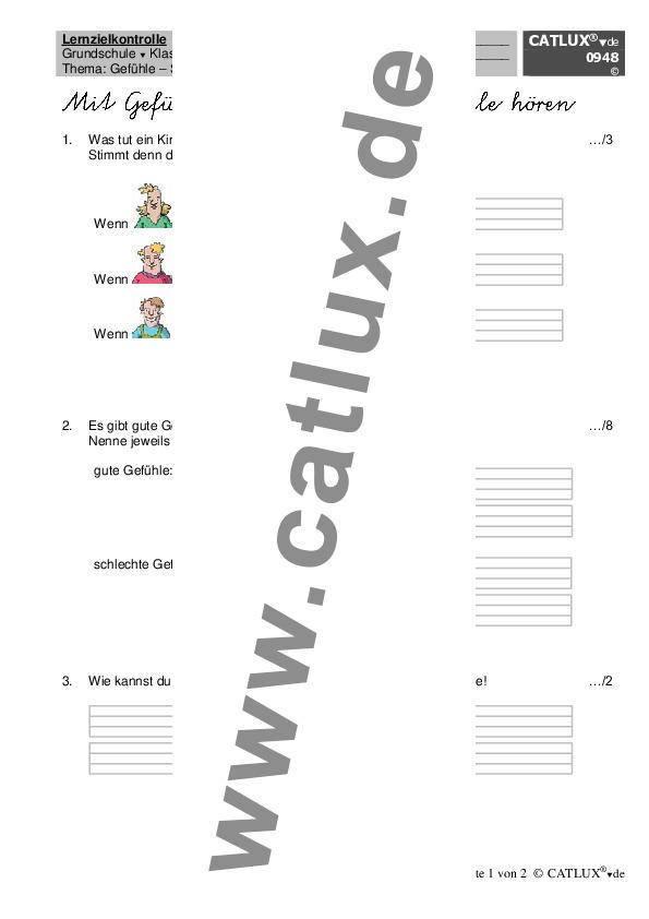 ▷ Proben Sachkunde / HSU Klasse 2 Grundschule | Catlux