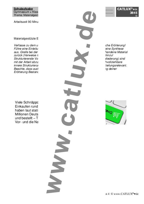 schulaufgabe zum aufsatz thema materialgesttzte textgebundene errterung im fach deutsch der - Textgebundene Erorterung Beispiel Klasse 12