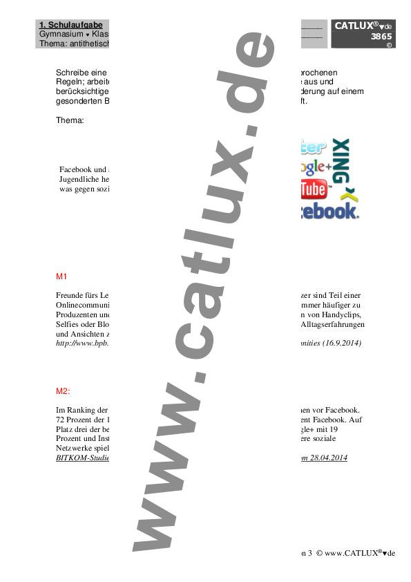 ▷ Schulaufgaben Gymnasium | Catlux