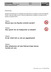 lineare errterung fr das fach deutsch zum thema rauchverbot - Lineare Erorterung Beispiel Klasse 8
