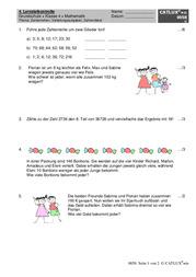 proben mathematik klasse 4 grundschule catlux