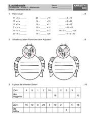proben mathematik klasse 1 grundschule catlux. Black Bedroom Furniture Sets. Home Design Ideas