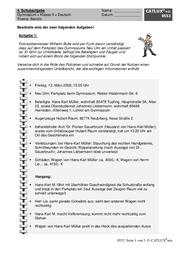 bericht mit musterlsung - Erlebniserzahlung 5 Klasse Gymnasium Beispiel