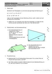 8 klasse mathe realschule ein hausarbeit thema finden