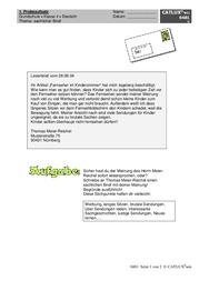 Lernzielkontrolleprobe Deutsch Brief Sachlicher Brief Förmlicher