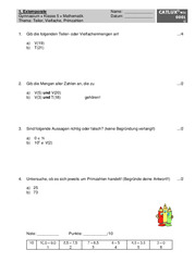 ▷ Schulaufgaben Mathematik Klasse 5 Gymnasium   Catlux
