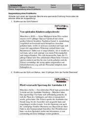 erzhlkern - Erlebniserzahlung 5 Klasse Gymnasium Beispiel