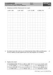lernzielkontrolle probe mathematik probe grundschule klasse 4 schriftlich multiplizieren mit. Black Bedroom Furniture Sets. Home Design Ideas