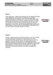 Aufsatz Klasse 7 Catlux