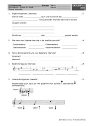 ▷ Schulaufgaben Musik Klasse 5 Gymnasium | Catlux