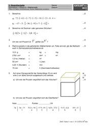 extemporalen stegreifaufgaben gymnasium klasse 6 mathematik lambacher schweizer catlux. Black Bedroom Furniture Sets. Home Design Ideas