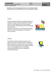 Brief Sachlich Deutsch Klasse 5 Gymnasium Catlux