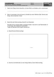 lernzielkontrolle/probe deutsch brief (persönlicher brief) als, Einladung