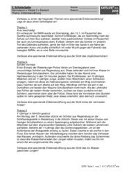 erlebniserzhlung - Erlebniserzahlung 5 Klasse Gymnasium Beispiel