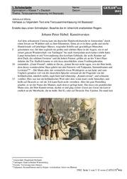 Schulaufgabe Deutsch Textzusammenfassung Mit Basissatz Zu Peter