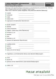 ▷ Kleiner Leistungsnachweis Gymnasium | Catlux