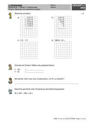 ▷ Schulaufgaben Mathematik Klasse 5 Realschule | Catlux
