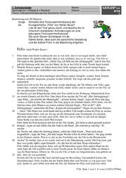 Aufsatz Deutsch Klasse 8 Gymnasium Catlux