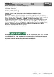 materialgesttzte textgebundene errterung als 4 schulaufgabe im fach deutsch der 9 klasse gymnasium - Gliederung Errterung Muster
