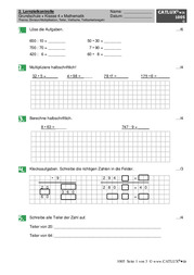 ▷ Proben Mathematik Klasse 4 Grundschule   Catlux